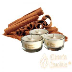 Charis Candle ® - Lumânări pastilă Tealight Cinnamon