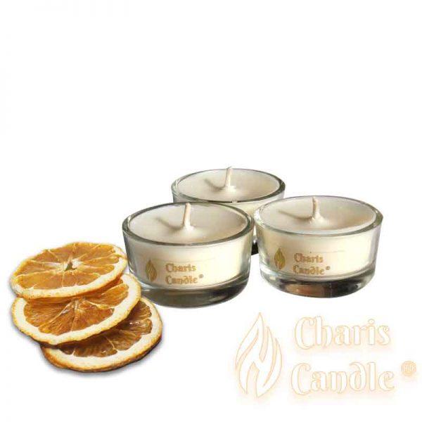 Charis Candle ® - Lumânări pastilă Tealight Citrus
