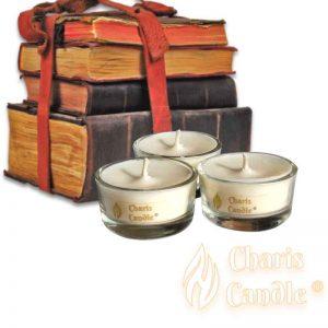 Charis Candle ® - Lumânări pastilă Tealight Library