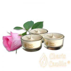 Charis Candle ® - Lumânări pastilă Tealight Rose